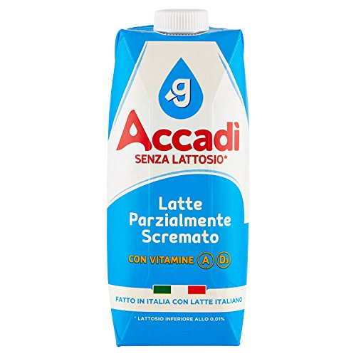 Granarolo Accadì Latte Parzialmente Scremato senza Lattosio, 500ml