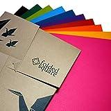 Conjunto de Regalo de 100 Hojas de Papel para papiroflexia de Colores Pantone - Colección de Origami Contemporánea