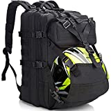 Motorcycle Helmet Backpack for Men Women, 45L Large Capacity Waterproof Expandable Helmet Holder, Cycling Helmet Storage/Hiking Helmetcatch Bag/Military Tactical Backpack With Molle Systerm