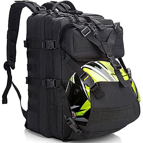 Motorcycle Helmet Backpack for Men Women, 45L Large Capacity Waterproof Expandable Helmet Holder,...