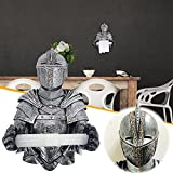 Medieval Knight Funny Toilet Paper Holder , Toilet Paper Roll Holder , Rome Knight Tissue Holder , Wall Mount Knight Toilet Paper Holder , Toilet Paper Holder for Bathroom Kitchen Wall Home Decor