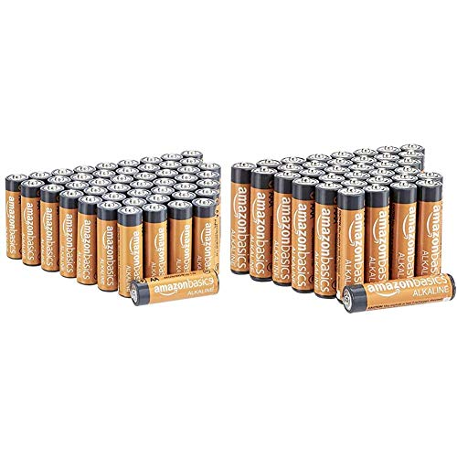 AmazonBasics - Pilas alcalinas AAA de 1.5 voltios + AmazonBasics - Pilas alcalinas AA de 1.5 voltios
