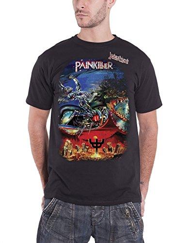Judas Priest Painkiller Album Cover oficial hombre nuevo Negro T Shirt
