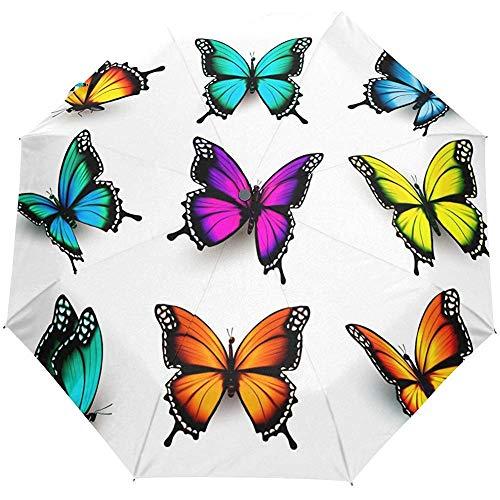 Blumenschmetterlings-Tier-Auto-Öffnungs-nahes Sun-Regen-Regenschirm