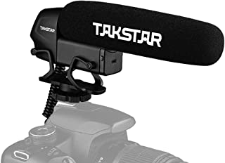 TAKSTAR SGC-600 On-camera Condenser Interview Microphone Mic Super-cardioid 3-level Gain Control Low Cut Switch 3.5mm Plug...