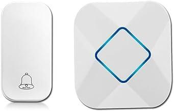 Deurbel Wireless Home Deurbel Afstandsbediening Deurbel Gouden Kleur Witte Creative Deurbel Externe deurbel (Color : Whit...