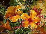 Pintar por Numeros Adultos Flores de naturaleza muerta kit de bricolaje para pintura al óleo sobre lienzo preimpreso for Decoraciones para el Hogar 40 X 50 cm Sin Marco