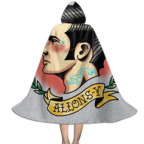 NUJSHF 10th Doctor Who Tattoo Lets Go Allons Y Capa con Capucha Unisex para niños, para Halloween, decoración de Fiestas, Disfraces de Cosplay
