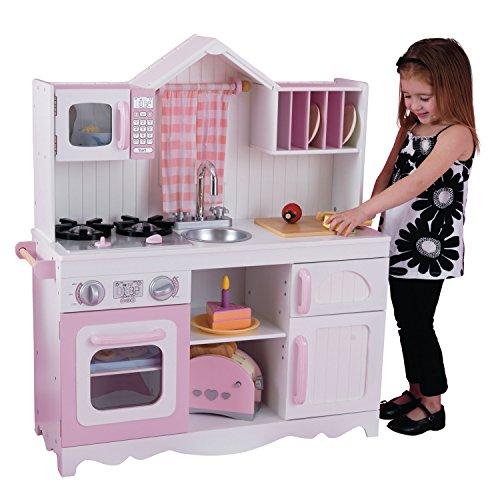 KidKraft 53222 Moderne Country Spielküche, Rosa und Weiß - 2