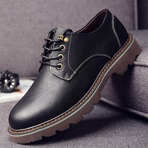 LOVDRAM Chaussures en Cuir pour Hommes Nouveau Chaussures Mode Outillage pour Hommes Bas pour Aider Bottes Courtes Jeunes Casual Grand Cuir Chevelu Chaussures Sauvage