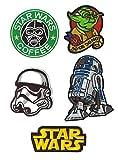SET PRODUCTS  5 Parches Termoadhesivos de Star Wars - Iron-on Patches para Personalizar su Ropa o Bolsos - CREA tu Propio Estilo! - Varios Modelos Disponibles