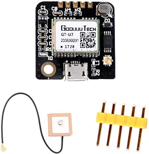 ZHITING GT-U7 GPS Module GPS Receiver Navigation Satellite with EEPROM Compatible with 6M 51 Microcontroller STM32 UO R3+ IPEX Active GPS Antenna for Arduino Drone Raspberry Pi Flight