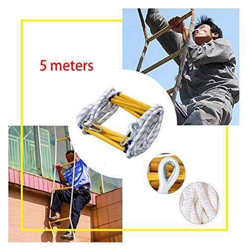 SJWR draagbare reddingsladder, vuurladder, robuuste multifunctionele nylon zachte ladder, voor kinderen en volwassenen, ramen op het balkon
