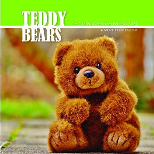 Teddy Bears 7 x 7 Mini Wall Calendar 2021: 16 Month Calendar