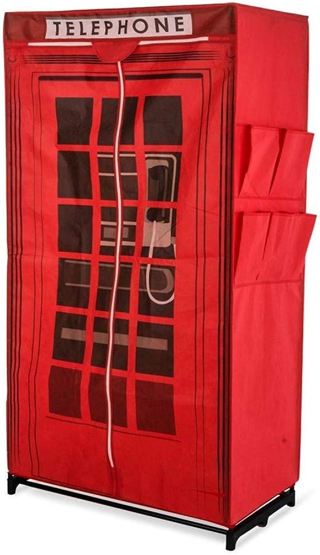 Venta barata TrAdE TrAdE TrAdE shop Traesio- Armario Cabina telefónica Inglés Tela Barra Almacenamiento Zapatero 160cm  últimos estilos
