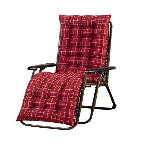 Escalada al aire libre acampa de la pesca portátil plegable Silla plegable portátil de la silla de salón cómodos cojines Almohada Sillón reclinable for la cubierta patio al aire libre ( Color : Red )
