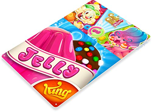 Tinworld Tin Sign Jelly Candy Crush Smart Phone App Icon Metal Sign Decor B164