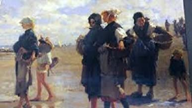 The Oyster Gatherers of Cancale, 1878 (500+ Puzzle, 18 x 24