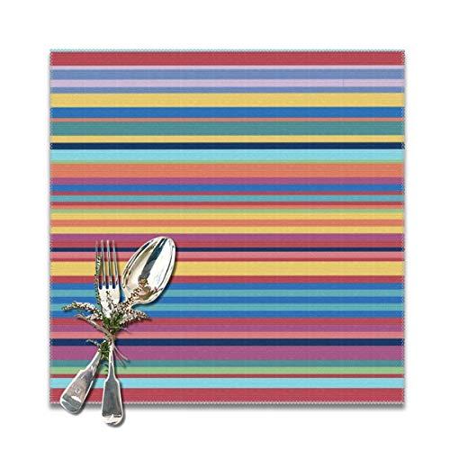 Rasyko Bauhaus - Set di 6 tovagliette all'americana per tavolo da pranzo, lavabili e resistenti al calore