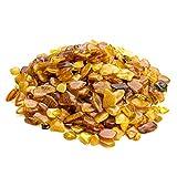 Ambra baltica pietre di ambra cultura | mix color ambra naturale, lucidato, perline per fai da te, gioielli e vernice sollievo (senza fori) 40 g/1.4 oz Egg Yolk Yellow