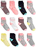 Simple Joys by Carter's Baby Girls' Toddler 12-Pack Sock Crew, Pink/Multi, 4T/5T
