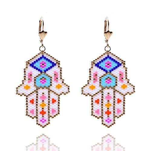 CEXTT Pendientes étnicos para Regalos de Mujer Joyería de Fiesta de Moda Pendiente Grande Pendiente de Oro Pendiente Pendiente