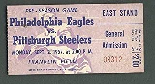 Philadelphia Eagles Vs. Pittsburgh Steelers Ticket Stub Sept. 2, 1957 123938