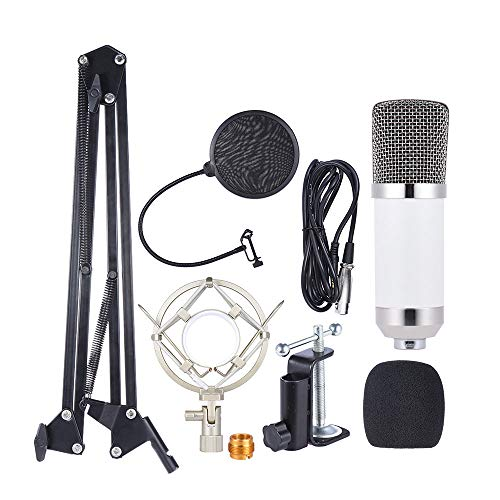 ammoon Micrófono Profesional Estudio de Difusión Grabación de Condensador Kit de Micrófono con el Montaje de Choque...