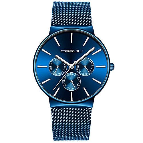 UINGKID Herren Uhr analog Quarz Armbanduhr wasserdicht Uhren Heiße beiläufige Pers5onlichkeit-Uhr-Mode der neuen Männer Kajun 2142 populär