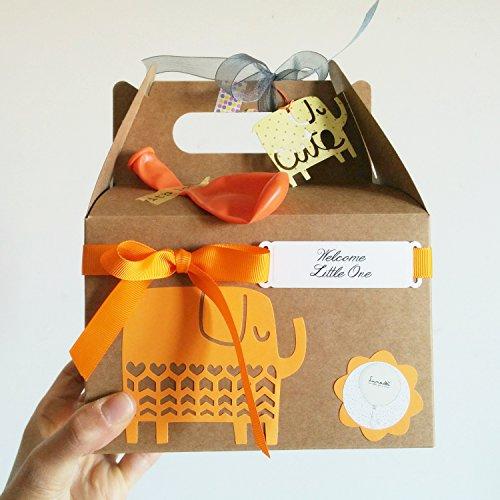 Cajita Regalo para Recién Nacidos con Cupcake (Babero + Calcetines), Esponja natural y Calcetines en Forma de Flor