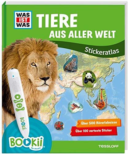 BOOKii® WAS IST WAS Stickeratlas Tiere aus aller Welt (BOOKii / Antippen, Spielen, Lernen)