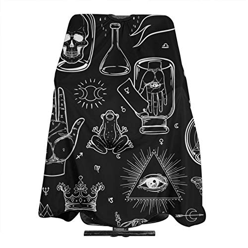 Mystic Magic Masonic Barber Cape Adjustable Profession Hair Cutting Cape 55 X 66 Inch For Home Salon And Barber Shop Hair Care