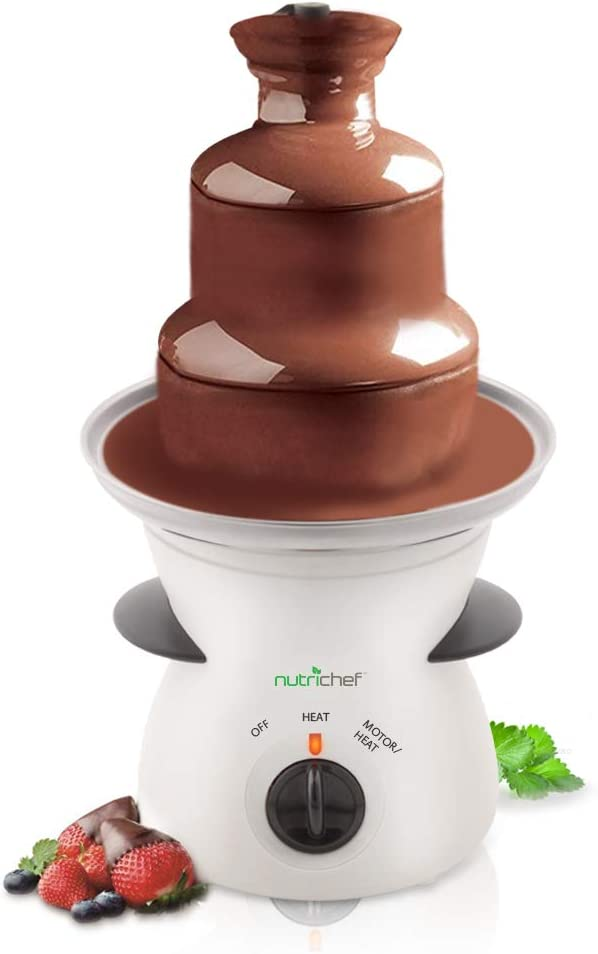 NutriChef 3 Tier Chocolate Branded goods Fondue Stainless Electric Fountain - 100% quality warranty