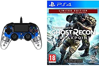 BigBen Interactive Nacon Compact Controller Luminosi, Blu - Classics - Playstation 4 + Ghost Recon Breakpoint - Limited [E...