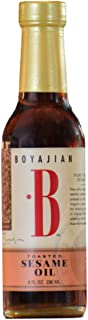 Boyajian 8 Ounce Toasted Sesame Oil - Rich, Nutty Flavored Oil for Asian Cooking, Drizzling, Added to Vinaigrettes and Mar...