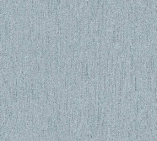 A.S. Création Vliestapete Luxury Walls Tapete Uni 10,05 m x 0,70 m blau Made in Germany 357847 3578-47