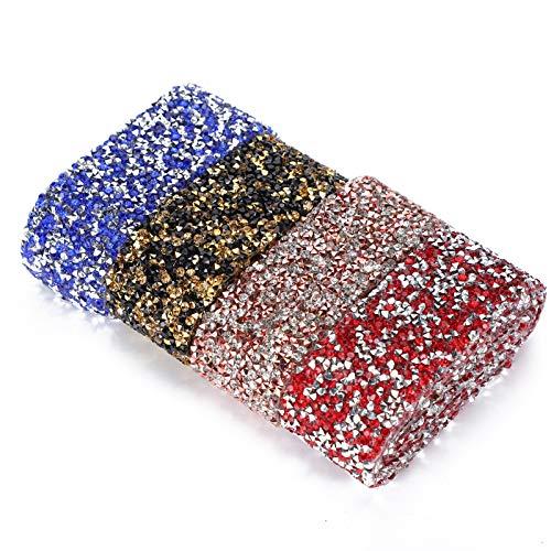 Resina de color con adhesivo Resina práctica Cadena de diamantes de imitación Calcomanías de diamantes de imitación calientes para collares Disfraces Regalos del día de la madre Árboles de