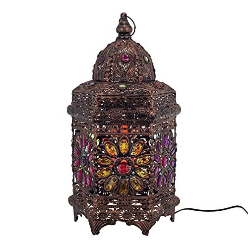 BY SIGRIS - Lámpara Sobremesa - Lampara Sobremesa - Lampara Fabricada en Metal y Resina - Medidas 49 x 23 x 26 cm