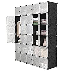 LARGER CAPACITY: the cubes are deeper than other cubic cabinets (45 cm wide Vs. 35 cm wide) to accommodate more items STURDY CONSTRUCTION: solid PP plastic panels; the frame of each cube is made of steel; Maximum capacity 5.9kg / cube CONTEMPORARY DE...