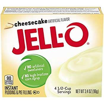 Jell-O Instant Cheesecake Pudding & Pie Filling  3.4 oz Boxes Pack of 6