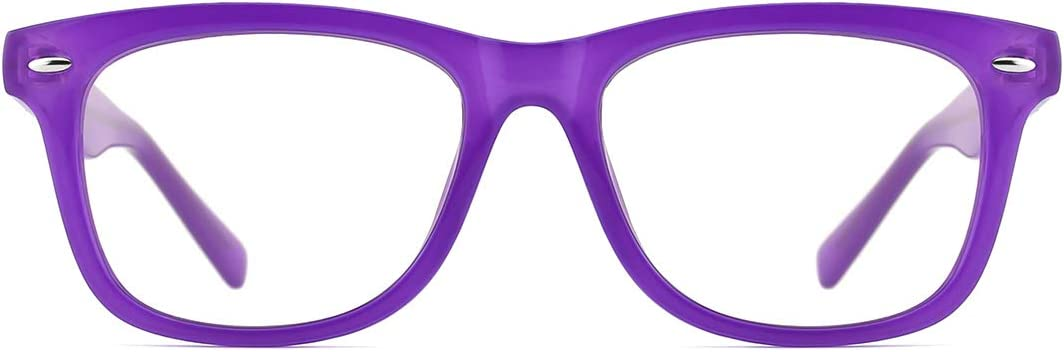 Modesoda kids Blue Light Blocking Glasses Square Frame Computer Gaming Eyeglasses for Boys Girls