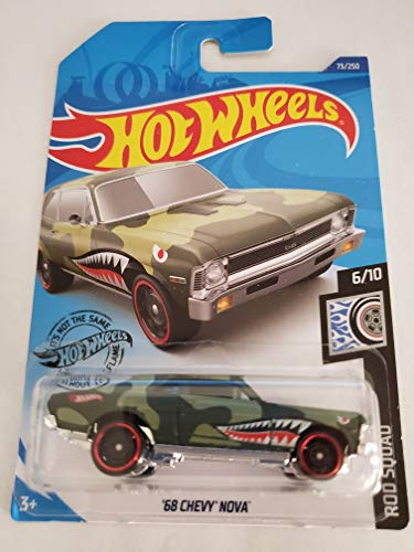 Hot Wheels 2020 Rod Squad '68 Chevy Nova, 73/250