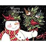 """LANG - """"Snowman and Friends"""", Boxed Christmas Cards, Artwork by Susan Winget"""" - 18 Cards, 19 envelopes - 5.375"""" x 6.875"""""""