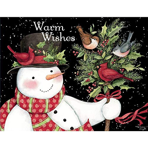 LANG - 'Snowman and Friends', Boxed Christmas Cards, Artwork by Susan Winget' - 18 Cards, 19 envelopes - 5.375' x 6.875'