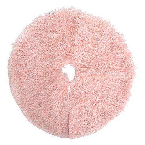 albero di natale rosa VOSAREA Xmas Tree Skirt Gonna per Albero di Base per Tappetino Albero di Piede Tappeto Grembiule Festivo per Albero di per Decorazioni per Natale (Colore Casuale)