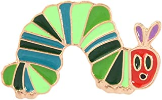 Cartoon Strawberry Worm Enamel Brooch Pin Collar Lapel Clothes Badge Jewelry