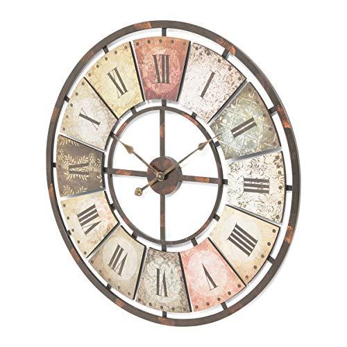 Pureday Wanduhr mit römischen Ziffern antikes Ziffernblatt analog