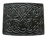 UTK Scottish Kilt Black Powder Coated Belt Buckle (Black 29)
