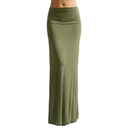 fb6d979d3 Azules Women'S Rayon Span Regular to Plus Size Maxi Skirt - Solid