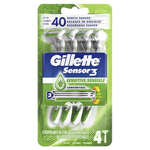 Gillette Sensor3 Conditioning Shave Disposable Razor 4 Count